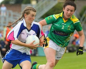 Waterford's Aileen Wall goes past Kerry's Aisling O'Connell during their TG4 All Ireland Senior Championship game at Birr last July. 			| Photos: Dan McGrath/Editorial Images