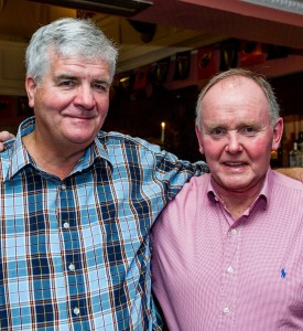 Fintan Power and Bob Murphy (Class of 1970) pictured at the Munster Bar.
