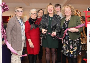 Senator Grace O'Sullivan cutting the ribbon to officially open this year's Waterford Crafts – Christmas Craft Fair. Also included were Mary Birney, Mauney Doyle, Cathy Hayden, Caroline Senior and Carmel Grant.| Photos: Noel Browne