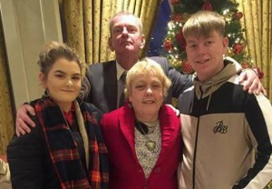 Paul Thomas Walsh (back) with his daughter Molly –Ann Walsh, sister Margaret and son Mark Anthony.