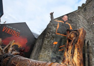 Thumbs up from Wood Sculptor John Hayes