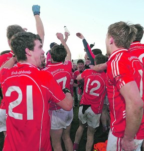 The joy of it: Stradbally celebrated a record-equalling 19th Senior Football title at Fraher Field on Sunday last as if it were their maiden success.  See inside for more coverage.    Photo: Sean Byrne