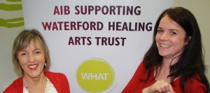 Inset: Pictured at the announcement of details of AIB's renewed sponsorship of Waterford Healing Arts Trust's 'Healing Sounds in the Foyer' were Carole Normoyle, Branch Manager, AIB Ardkeen and Claire Meaney (Acting Arts Director, WHAT).