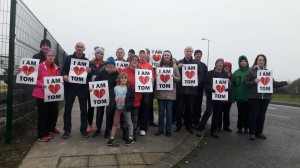 A group pictured at the walk to raise awareness for the need for a second Cath lab in UHW which was held in Waterford on December 26th