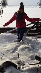 Aoife Thomas, pictured in the Canadian snow!
