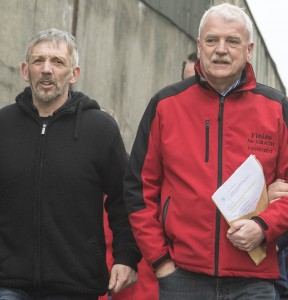 Bill Spencer taking Minister McGrath on a tour of his Ballinamona Farm on January 11th.