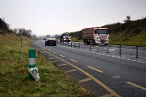 Flowers by the N24 roadside following the death of Denis Walsh on December 1st, 2016.