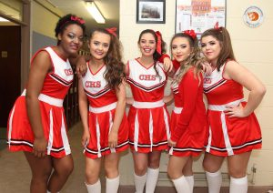 The 'Legally Blonde' Cheerleaders at the Presentation Secondary School; from left: Andrea Jennifer Kabinda, Roisin Kelly, Leah Cleary, Ellen Walsh and Robyn Reidy. | Photo: Noel Browne