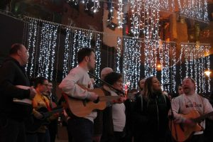 Group performing as part of BuskAid which took place in Waterford city Dec 23rd