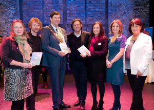 At the Waterford Chamber Business After Hours networking event at the Theatre Royal and launch of the Theatre Royal Spring Season Programme were from left: Mary Boland, Theatre Manager; Dermot Quinn, Technical Manager; Paul Nolan, President Waterford Chamber; Ben Barnes, Artistic Director, Theatre Royal; Barbara Drohan, Board of Directors; Sheila Quinn, Marketing Executive and Nora Widger, Commercial Director.
