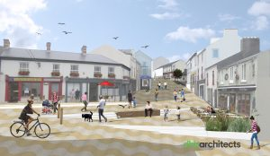 An image of the newly envisaged Tramore town centre.