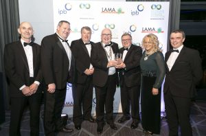 Waterford Greenway (Waterford County Council) won the Grand Prix Award and the 'Best Tourism Initiative' award at the by IPB Insurance and LAMA (Local Authority Members Association) in Croke Park on Saturday last. Mayor Pat Nugent is pictured accepting the award from George Jones (Chairman of IPB Insurance) and Mags Murray (Chairperson of LAMA Executive). | Photo: Paul Sherwood