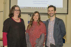 Tanya Brady (Speaker), Mari Carmen Postigo Alvarez (Organiser) and Donald Ewing (Head of Educational Services, Dyslexia Association Ireland). Photos: Mick Wall.