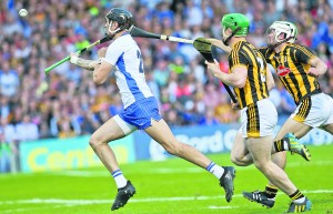 Maurice Shanahan seals the deal for Waterford as he lands his 83rd minute goal against Kilkenny in last July's epic Hurling Qualifier at Semple Stadium.  | Photos: Sean Byrne