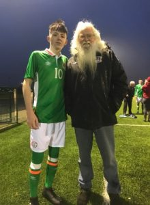 Caption: Lee Kavanagh with his Grandad Gino Kavanagh