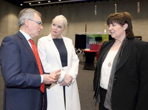 WIT President Willie Donnelly chatting on Friday last with Minister of State at the Department of Education with special responsibility for Higher Education, Mary Mitchell O'Connor TD and Carlow IT President, Dr Patricia Mulcahy.| Photos: Noel Browne