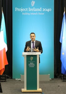 Taoiseach Leo Varadkar addressing the WIT Arena at the 'Project Ireland 2040' roadshow on Friday, March 9th. | Photos: Noel Browne