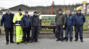 Vintage tractor enthusiasts from Mooncoin and Kilmeaden Vintage Club at Portlaw's Parade on Saturday last, pictured from left: Ned Delahunty,  Pat Dalton, John McGrath, Paudie McCarthy, Pat Fitzgerald, James Barry and Paddy Falconer.| Photos: Joe Cashin