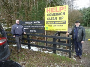 Two members of the Comeragh Community Development Group Tom and Michael Flynn outside the entrance to Crough Wood which is going to be extended to the bridge in Mahon Bridge and to the base of the Mahon Falls.