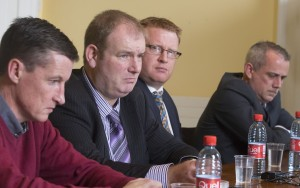From left: abuse victims Colin Power, Jason Clancy, Kevin Keating and Barry Murphy pictured following the conviction of Bill Kenneally in 2016.  | Photo: Patrick Browne