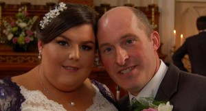 The late Tom Power and his wife Bernadette pictured on their wedding day.
