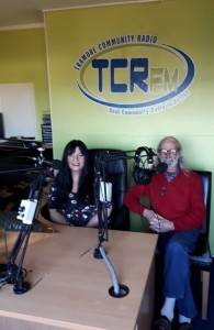 Stan and Bernadette pictured in the TCR FM studios on Queen Street, Tramore.