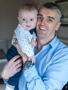 """Eoghan Breathnach (pictured with son Fionn) had a brush with his own mortality when he sustained a serious injury while hurling on Easter Sunday. """"I feel I'm lucky to still be here,"""" he told this columnist."""