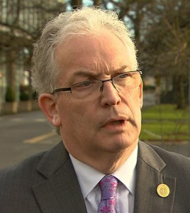 Eye of the storm: Health Service Executive Director General Tony O'Brien. | Still: RTE