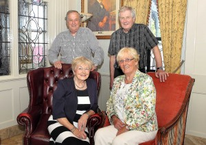 Four stalwarts of Waterford Hospice: (Back) Tony Kavanagh and Des Kelly and (Front) Nell Guiry and Marie Cummins.  Photo: Noel Browne.