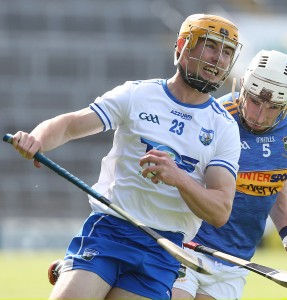 Waterford's Tommy Ryan gives Tipperary's Joe O'Dwyer the slip during Sunday's pulsating Munster Senior Hurling Championship clash in Limerick. See inside for report, reaction and analysis.| Photo: Maurice Hennebry