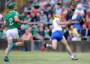 Tommy Ryan striking home Waterford's goal in Sunday's defeat to Limerick