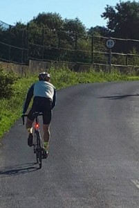 John Keyes (an elder brother of mine) pictured in the middle of an extraordinary fundraising cycle he undertook on Friday, June 22nd. | Photo: Kevin Keyes (my younger brother!)