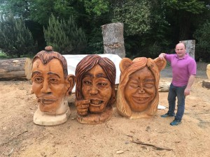 John Hayes alongside his 'Inside A Teenager's Head' project which he is working on in association with Ballybeg Youth Resources Centre and Waterford Walls.