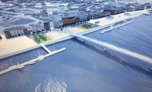 Image of the proposed new River Suir Sustainable Transport Bridge.