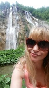 Michelle Heffernan enjoying the beautiful Plitvice Lakes National Park