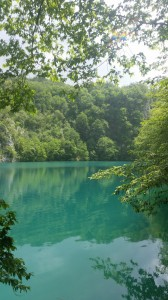 An unspoilt view: the turquoise blue waters of Plitvice