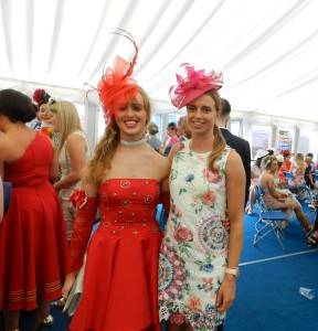 Sinead Lohan Tramore with friend Aoife O Sullivan at Ladies Day