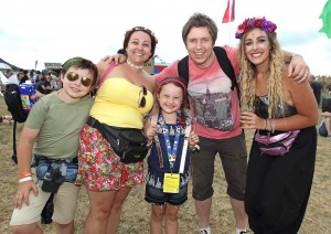 Colin, Claire, Quinn and Izzy Shanahan pictured with Cliona Gahan from Newfoundland who played at the festival.