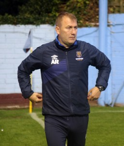 A largely satisfied Blues manager Alan Reynolds.