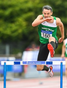 Ferrybank AC's Thomas Barr, who won his eighth successive Senior Men's 400 Metres Hurdles at last Sunday's National Senior Track and Field Championships at Morton Stadium in Santry.										 | Photos: Sam Barnes/Sportsfile