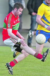 Edmond O'Halloran was one of seven Clashmore/Kinsalebeg scorers as they edged past Dungarvan in the Senior Football Quarter-Final Play-Off. | Photo: Sean Byrne