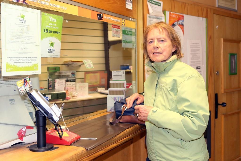 Babs Trihy at Kilmeaden Post Office on Friday last.