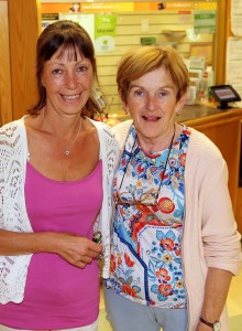 Kilmeaden Post Office staff members Angela and Breda pictured on the post office's last day of business.
