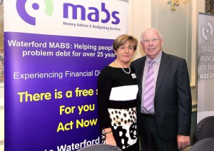 Anna Walsh  (Waterford MABS Coordinator) pictured with former MABS chairperson, Pat White at the 25th anniversary event held at the Granville Hotel on Monday morning.  | Photo: Noel Browne