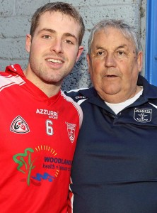 The late Councillor John Carey, pictured here with Noel Connors following Passage's Senior Hurling Championship win over Ballygunner in 2013, has been described as a loyal and popular public servant. | Photo: Noel Browne
