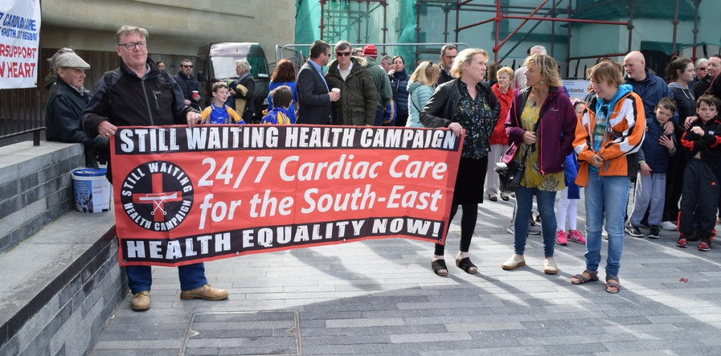 The campaign for 24/7 cardiac care will continue, a point underline during last Sunday's rally at Cathedral Square. | Photo: Joe Cashin