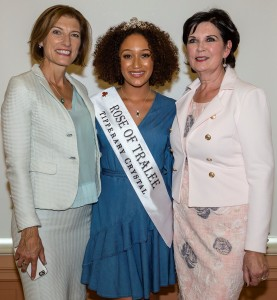 Brenda Hyland (1977 Rose of Tralee), Kirsten Maté Maher (2018 Rose of Tralee) and Orla Burke (1983 Rose of Tralee) pictured at the Large Room on Thursday last.
