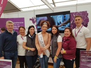 The team from UPMC Whitfield pictured at the National Ploughing Championships with Rose of Tralee 2018 Kirsten Mate Maher