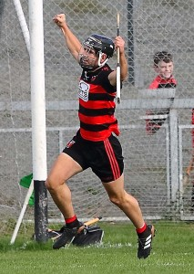 Ballygunner's JJ Hutchinson celebrates after scoring his side's third goal in last Sunday's SHC Semi-Final win over Passage at Walsh Park.