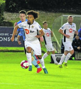 Bastien Hery takes on the UCD defence in the FAI Cup last Friday.